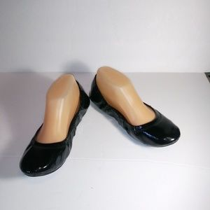 Lucky Brand Patent Black Flats 7.5M